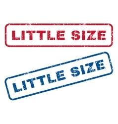 Little Size Rubber Stamps vector image