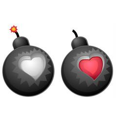 Love bomb design element vector