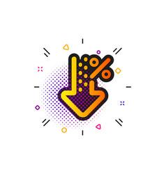 Low percent icon discount sign decrease vector