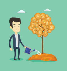 man watering money tree vector image