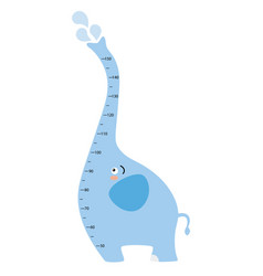 Meter wall elephant vector