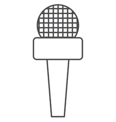 Microphone of broadcasting concept vector