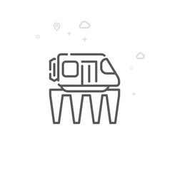 Monorail road train line icon symbol pictogram vector