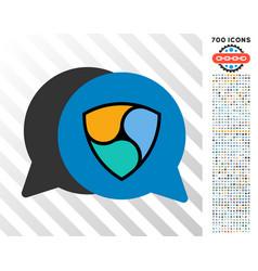 Nem bids flat icon with bonus vector