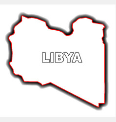 outline map of libya vector image