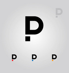 Pd or dp letters logo vector