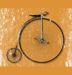 penny farthing sepia grunge vector image