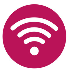 pink round icon and wifi signal sign vector image