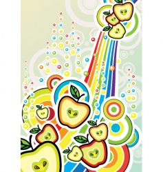 pop art illustration with apples vector image