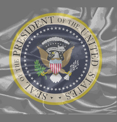 Presidential seal on silk vector