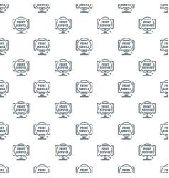 print service pattern seamless vector image
