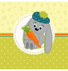 rabbit with carrots vector image