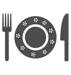 restaurant tableware icon vector image vector image