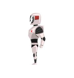 Robot spacesuit superhero cyborg costume side vector