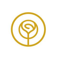 Rose flower logo beauty cosmetic salon concept vector