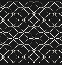 Seamless pattern thin wavy lines subtle mesh vector