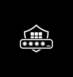 Security code icon flat design vector