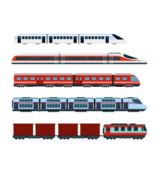 Set modern passenger trains vector