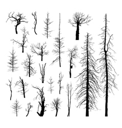 Set of dead trees vector