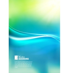 Shiny wave abstract background vector image