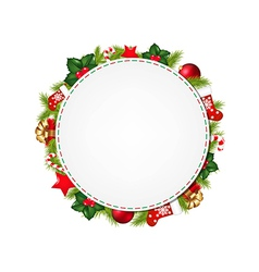 Speech Bubble With Christmas Symbol vector image