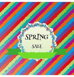 spring sale colorful background vector image