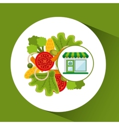 store fresh vegetables menu vector image vector image