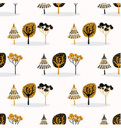 stylized tree wood repeating seamless pattern vector image