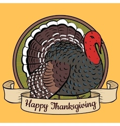 tray with turkey vector image