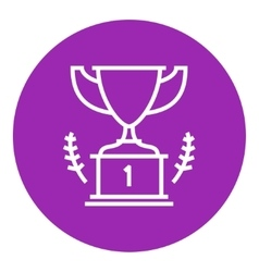 Trophy line icon vector image