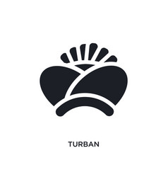 Turban isolated icon simple element from india vector
