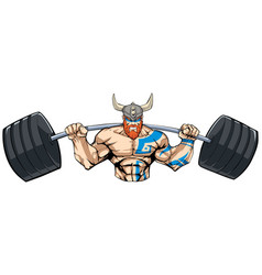 viking gym mascot grit vector image