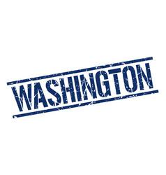 Washington blue square stamp vector