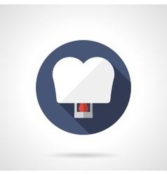 White heart sky lantern round flat icon vector
