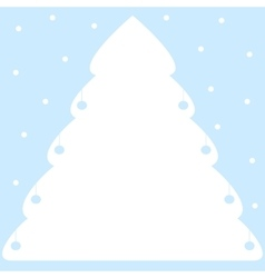 White styled Christmas tree vector