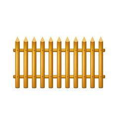 wooden fence in vintage design vector image