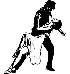 Abstract of latino dancing couple vector
