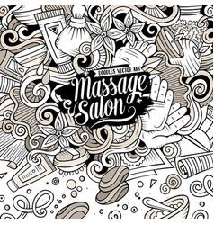 Cartoon cute doodles massage frame vector