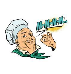 cook gesture of delicious sensations vector image