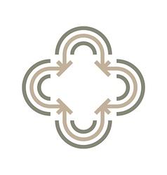 line arrow symbol design icon vector image vector image