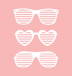 set of shutter-shades sunglasses background vector image vector image