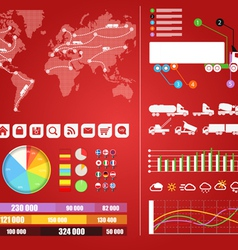 Cargo infographics vector image
