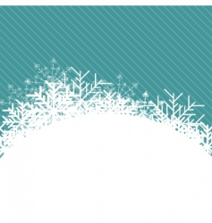 Christmas snowflake illustration vector image vector image
