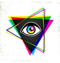 pypamid and eye vector image