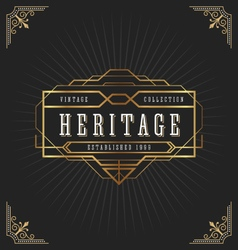 Vintage art deco frame for decorative design vector image vector image