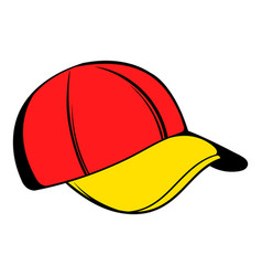 baseball cap icon icon cartoon vector image vector image
