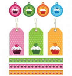 cake tags vector image