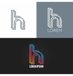 letter H logo alphabet design icon set background vector image