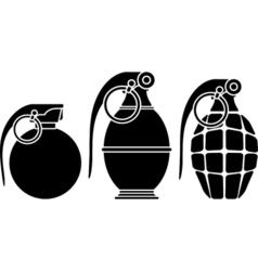 Stencils of grenades vector