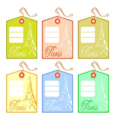 string tag for paris vector image vector image